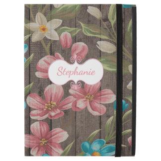 Painted Flowers on Wood iPad Pro Case