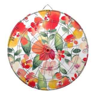 Painted Flowers Pattern Dartboard