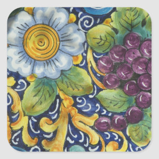 Painted Folk Art  Still life Square Sticker