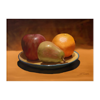 Painted Fruit Arrangement Acrylic Wall Hanging Acrylic Wall Art