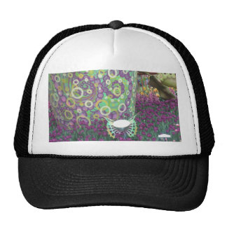 Painted Garden Wall Flowers Butterfly KIDS gifts Mesh Hats
