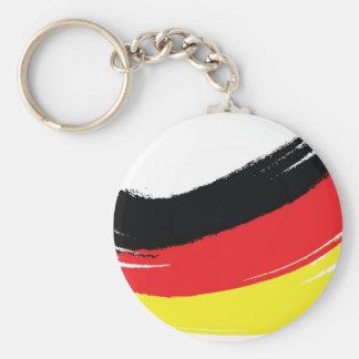 Painted german flag keychains