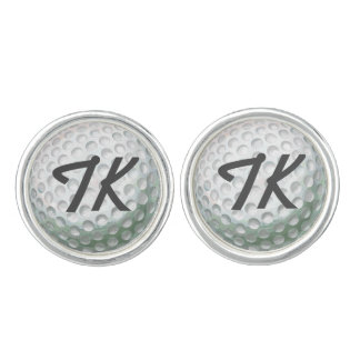 Painted Golf Ball with Name Cuff Links