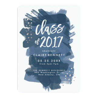 Painted Graduate Class of 2017 Graduation Card