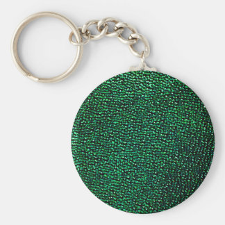 Painted green gems keychains