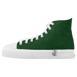 Painted green high tops. high tops