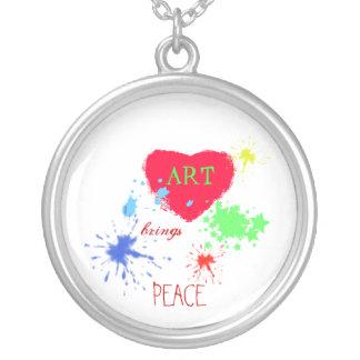Painted Heart- ART, brings, PEACE Jewelry