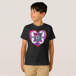 Painted Heart Brush Love Symbol Art Kids T-Shirt