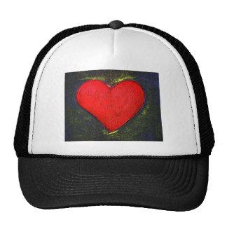 Painted Heart Cap