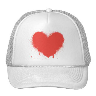 painted heart trucker hat cap