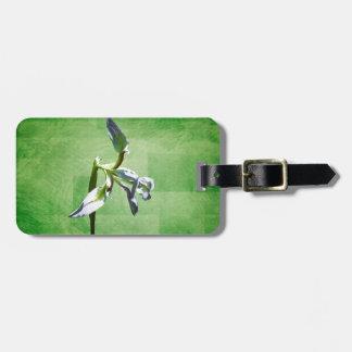 Painted Iris Luggage Tag
