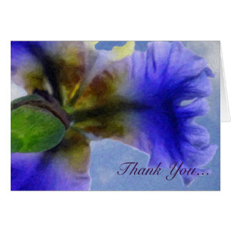 Painted Iris...Thank You Card