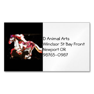 Painted Irish Gypsy Horse (2) Magnetic Business Card