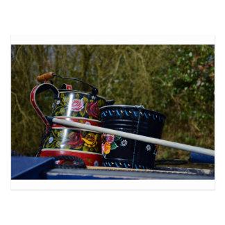 Painted Jug And Bucket Postcard