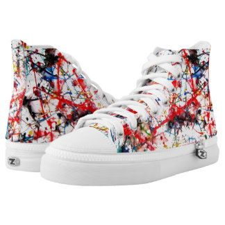 Painted kicks high tops