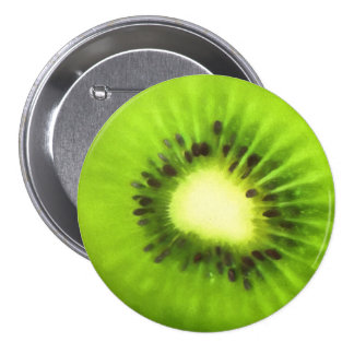 Painted Kiwi Fruit 7.5 Cm Round Badge