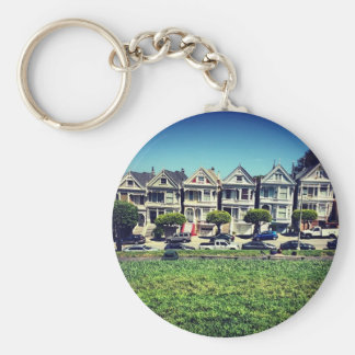 Painted Ladies Basic Round Button Key Ring