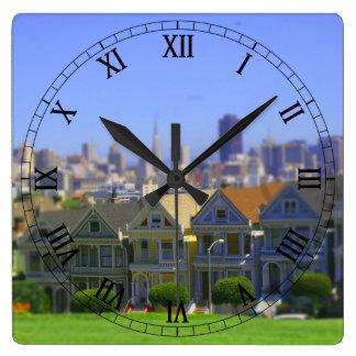 Painted Ladies in San Francisco (Tilt & Shift) Wall Clocks