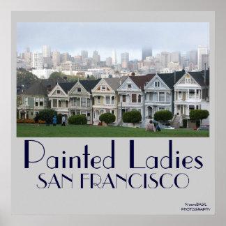 Painted Ladies Poster