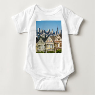 painted ladies san francisco baby bodysuit