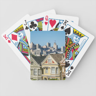 painted ladies san francisco bicycle playing cards