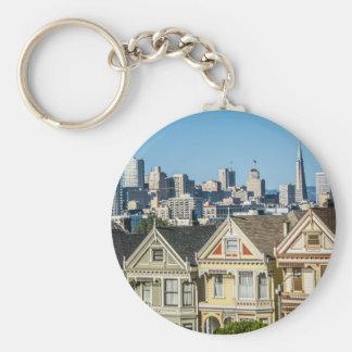 painted ladies san francisco key ring