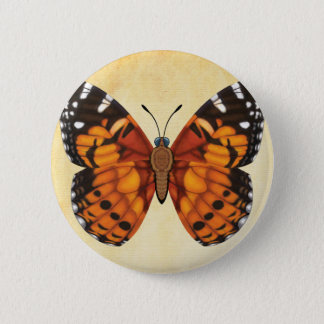 Painted Lady Butterfly 6 Cm Round Badge