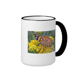 painted lady butterfly coffee mugs