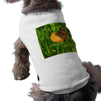 Painted Lady Butterfly Sleeveless Dog Shirt