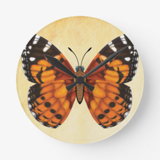 Painted Lady Butterfly Wallclock