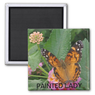 PAINTED LADY SQUARE MAGNET