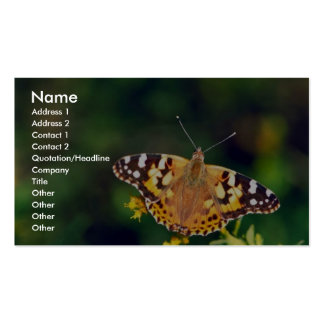 Painted lady on Goldenrod Business Card