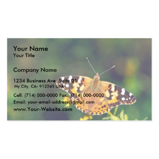 Painted lady on Goldenrod Business Card Template