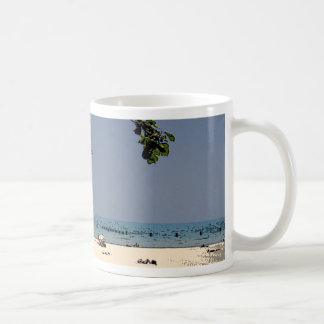 Painted Lake Michigan shores Coffee Mug