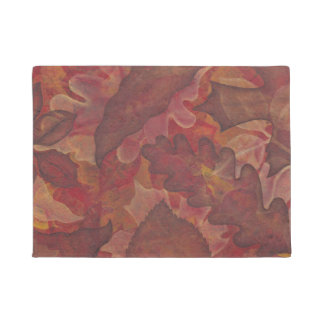 Painted Leaf Autumn Doormat