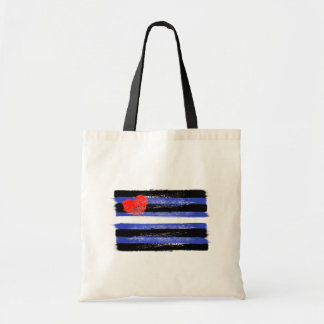 PAINTED LEATER PRIDE FLAG and SYMBOL - -  Tote Bag
