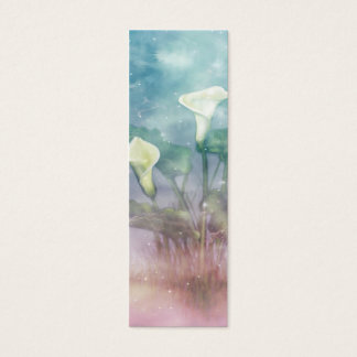 Painted Lilies Bookmark Mini Business Card