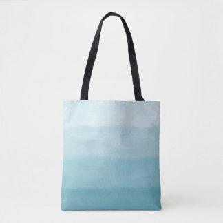 Painted Look Blue Stripes Sea Bags