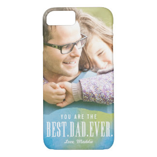 Painted Love Best Dad Ever iPhone Case