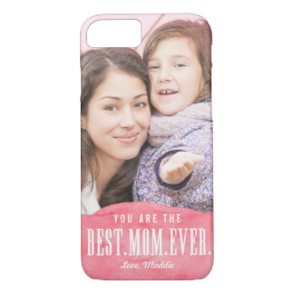 Painted Love Best Mom Ever iPhone Case