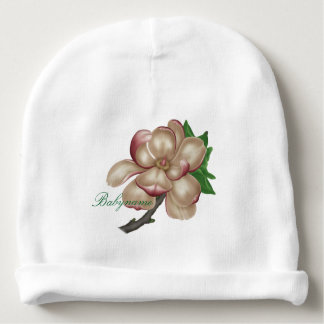 Painted Magnolias Personalized Baby Beanie