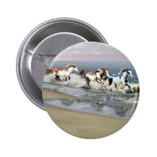 Painted Ocean 6 Cm Round Badge