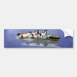 Painted Ocean Bumper Sticker