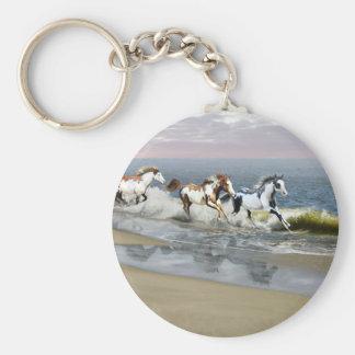 Painted Ocean Key Ring