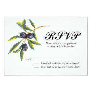 Painted Olive Branch RSVP Card