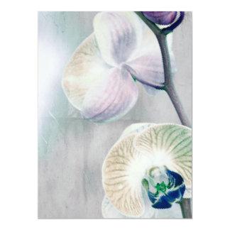 Painted Orchid Wedding Invitation