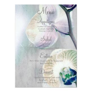 Painted Orchid Wedding Menu 17 Cm X 22 Cm Invitation Card