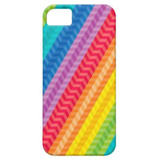Painted Palette Rainbow Herringbone Pattern iPhone 5 Covers