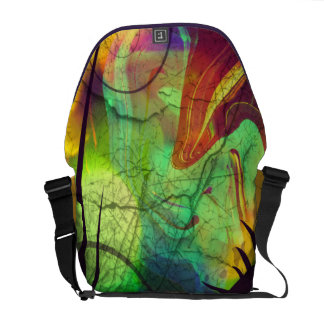Painted Panes Abstract II Messenger Bag