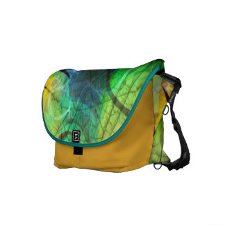 Painted Panes Abstract Messenger Bag